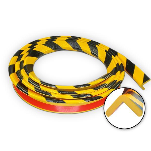 Corni re de protection d 39 angle l ment norme rouleau 5 0 m de long auto adh sif noir jaune - Corniere d angle ...