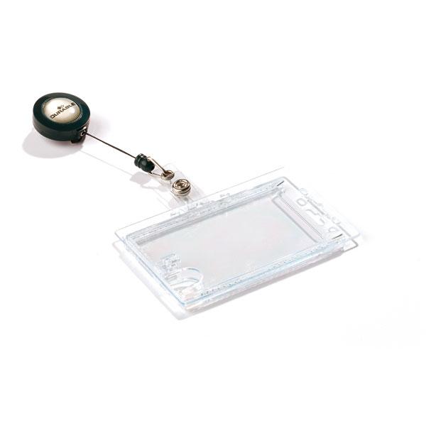 badge double bo te avec clip avec porte carte d 39 identit pour 2 badges de s curit. Black Bedroom Furniture Sets. Home Design Ideas