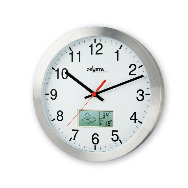 horloges murales horloge radio pilot e peweta dcf77 bo te design en aluminium poli mat. Black Bedroom Furniture Sets. Home Design Ideas