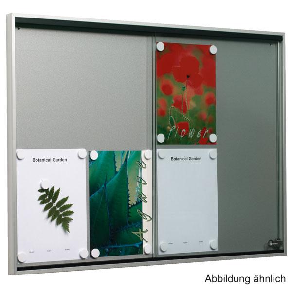 vitrines d 39 affichage panneau mural avec 2 portes coulissantes en verre de s curit tremp pour. Black Bedroom Furniture Sets. Home Design Ideas