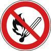 Verbotsschild Keine offene Flamme, Feuer, offene Z�ndquelle und Rauchen verboten