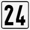 Parkplatzkennzeichnung / Hinweisschild Ziffernschild mit max. 2-stelliger Nummer nach Wahl