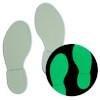 Bodenmarkierung Fußabdruck, langnachleuchtend