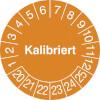 Prüfplakette - Kalibriert 20-25