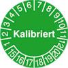 Pr�fplakette - Kalibriert 15-20