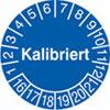 Pr�fplakette - Kalibriert 16-21
