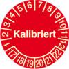 Pr�fplakette - Kalibriert 17-22