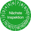 Pr�fplakette - N�chste Inspektion 15-20