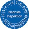 Pr�fplakette - N�chste Inspektion 16-21