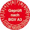 Pr�fplakette - Gepr�ft nach BGV A3 17-22