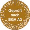 Pr�fplakette - Gepr�ft nach BGV A3 18-23