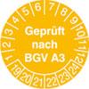 Prüfplakette - Geprüft nach BGV A3 19-24