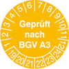 Pr�fplakette - Gepr�ft nach BGV A3 19-24