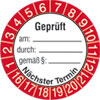 Pr�fplakette gepr�ft am: durch: gem��: