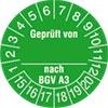 Pr�fplakette Gepr�ft von_ nach BGV A3 15