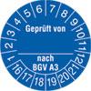 Pr�fplakette Gepr�ft von_ nach BGV A3 16