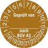 Pr�fplakette Gepr�ft von_ nach BGV A3 18