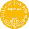 Pr�fplakette Gepr�ft von_ nach BGV A3 19