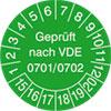 Pr�fplakette VDE 0701/0702 15-20