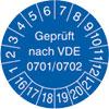 Pr�fplakette VDE 0701/0702 16-21
