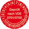 Prüfplakette VDE 0701/0702 17-22