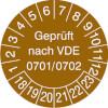 Prüfplakette VDE 0701/0702 18-23