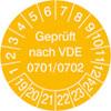 Prüfplakette VDE 0701/0702 19-24