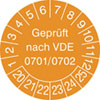 Prüfplakette VDE 0701/0702 20-25