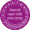 Prüfplakette VDE 0701/0702 21-26