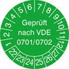 Prüfplakette VDE 0701/0702 22-27