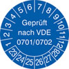 Prüfplakette VDE 0701/0702 23-28