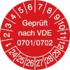 Prüfplakette VDE 0701/0702 24-29