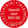Pr�fplakette Gepr�ft nach BGV D8 2017