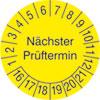 Pr�fplakette f�r Anlagen und Maschinen N�chster Pr�ftermin