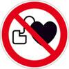Verbotsschild Kein Zutritt f�r Personen mit Herzschrittmachern oder