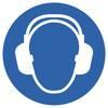 Gebotsschild Gehörschutz benutzen