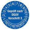 Pr�fplakette Gepr�ft nach DGUV Vorschrift 3