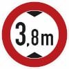 Verkehrszeichen - StVO Verbot f�r Fahrzeuge �ber bestimmte H�he