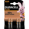Duracell Plus Power AAA (MN2400/LR03) Alkaline-Batterie