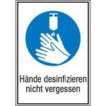 Hände desinfizieren Gebotsschild