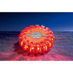 GLORIA Warnblitzer f�r Notf�lle rot/oranges Geh�use, 16 rote LED, 9 Leuchtprogramme,