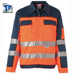 PLANAM Warnschutz-Bundjacke, orange-marine