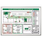Rahmen für Flucht- und Rettungspläne stabile Ausführung aus Aluminium, Format: DIN A3
