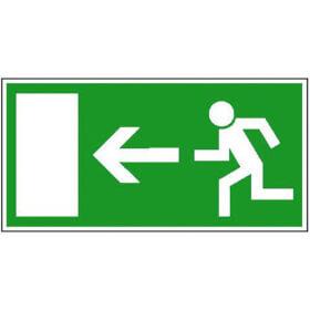 Fluchtwegschild - langnachleuchtend Rettungsweg links