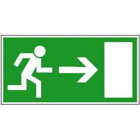 Fluchtwegschild - langnachleuchtend Rettungsweg rechts