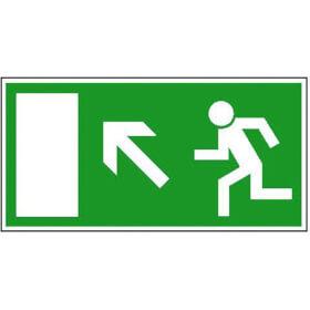 Fluchtwegschild - langnachleuchtend Rettungsweg links aufwärts