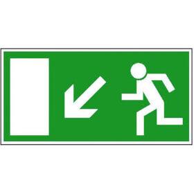 Fluchtwegschild - langnachleuchtend Rettungsweg links abwärts