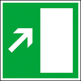 Rettungsschild - nachleuchtend Rettungsweg rechts aufwärts bzw. links abwärts