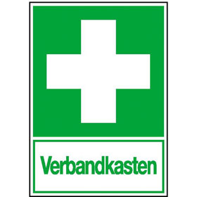 Rettungsschild - nachleuchtend Erste Hilfe Verbandkasten