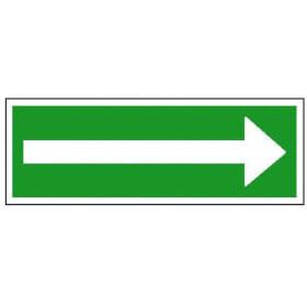 Rettungsschild - nachleuchtend Richtungspfeil